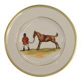 Image of 1950s Vintage Frank Vosmansky for Abercrombie & Fitch Mfh Huntsman Plate For Sale