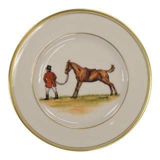 1950s Vintage Frank Vosmansky for Abercrombie & Fitch Mfh Huntsman Plate For Sale