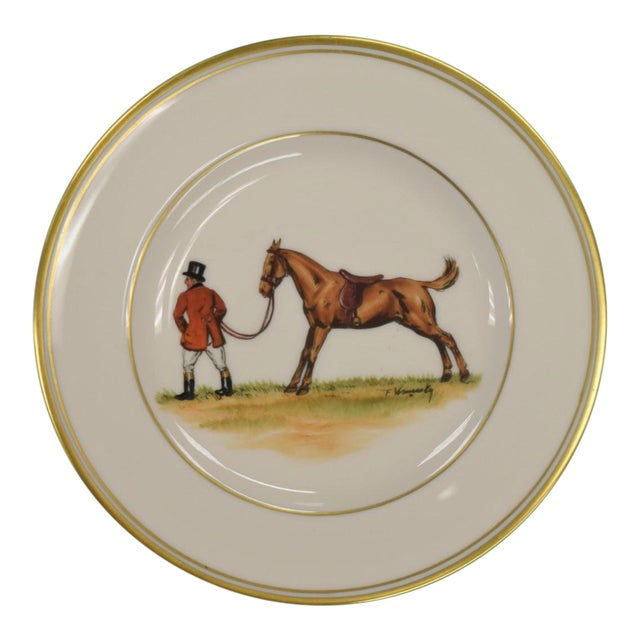 1950s Vintage Frank Vosmansky for Abercrombie & Fitch Mfh Huntsman Plate For Sale