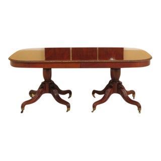 1990s Vintage John Widdicomb Carved Walnut Dining Table