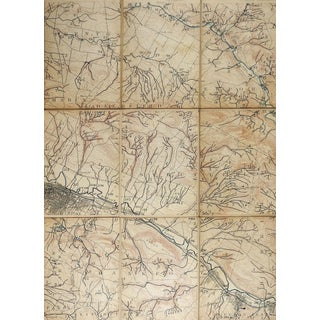 Utica New York 1898 Us Geological Survey Folding Map For Sale