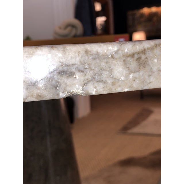 Italian Marble Round Dining Table For Sale In New Orleans - Image 6 of 6