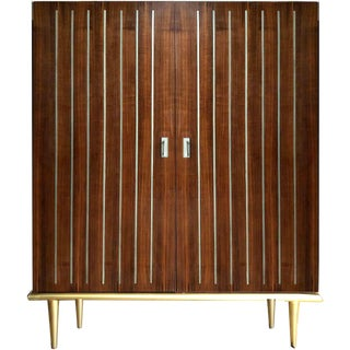 Mid-Century Modern Caracole Multi Tasker Bar Cabinet For Sale