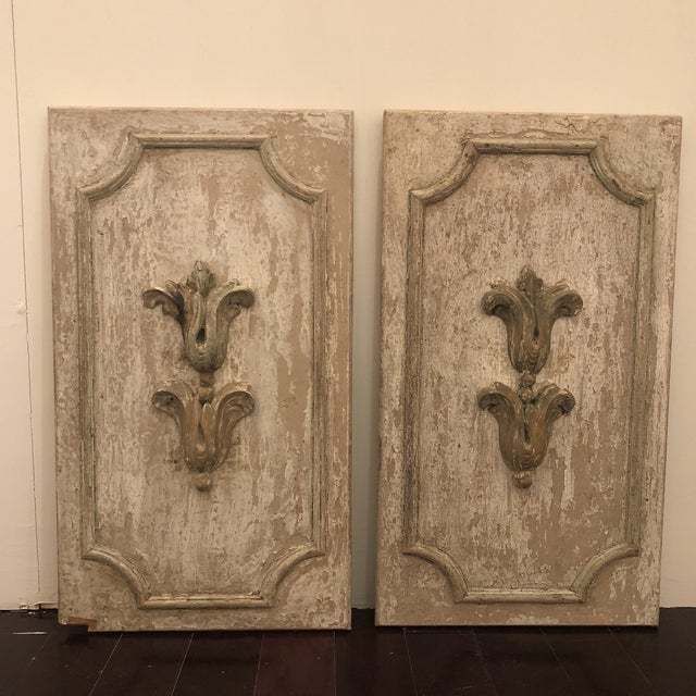 Wood Wood Panels With Antique Fragments - A Pair For Sale - Image 7 of 7