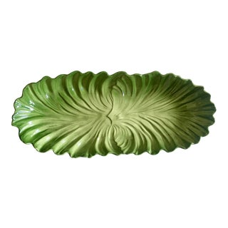 Mid-Century Maddux of California Green Lettuceware Tray For Sale