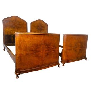 French Walnut Twin Beds - a Pair For Sale