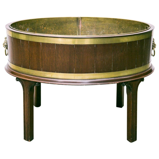 English George III Style Brass Bound Wine Cooler For Sale - Image 12 of 12