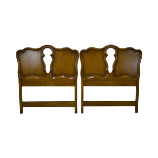 Rococo Style Vintage Fruitwood Twin Headboards - A Pair For Sale