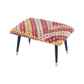 Pasargad Home Bosphorus Collection Vintage Kilim Cover Ottoman For Sale