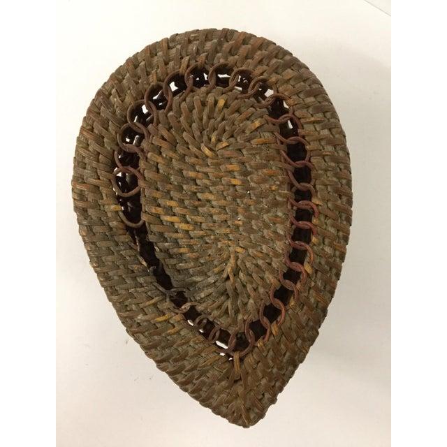 Mid-Century Modern 1930s Boho Chic Lidded Teardrop Shaped Basket For Sale - Image 3 of 13