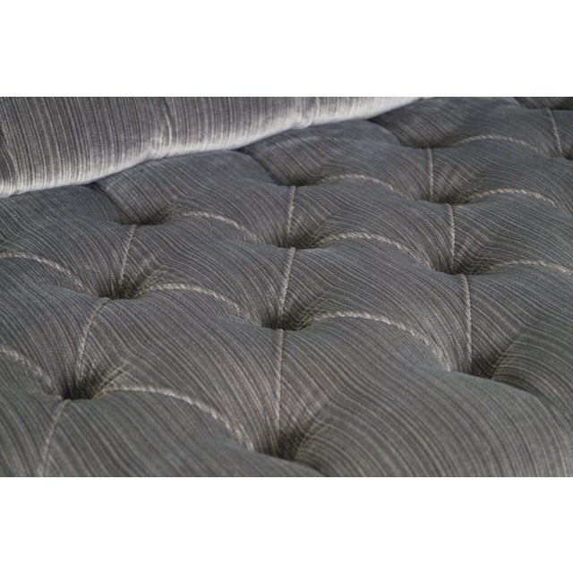 Vintage Tufted Chrome Sofa by George Kasparian For Sale - Image 9 of 10