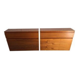 Vintage Mid Century Modern Danish Twin Headboards With Storage (A Pair) For Sale