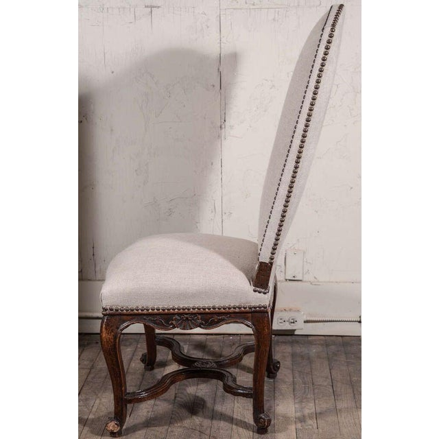 Pair of 19th Century Régence Style Side Chairs in Oak - Image 9 of 10