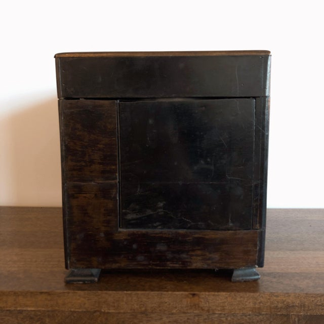19th Century French Ebony and Rosewood Tantalus Liquor Cabinet For Sale - Image 10 of 13