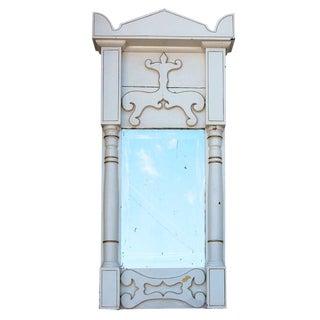 Late Gustavian or Early Biedermeier Painted Wall Mirror For Sale
