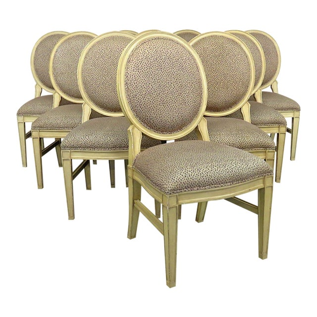 Set of 10 Louis XIV Style Dining Side Chairs For Sale