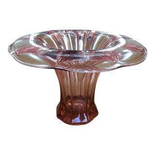 Pink Depression Glass Vase For Sale