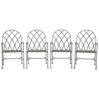 Mario Papperzini for Salterini Style Iron Patio Garden Chairs - Set of 4