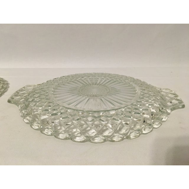 Clear Cut Glass Serving Trays - A Pair - Image 7 of 7