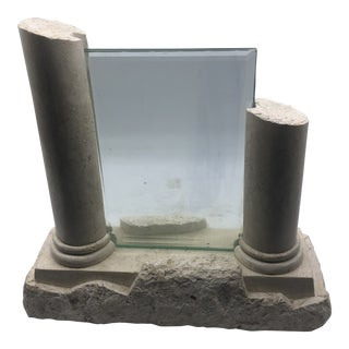 1980s Stone Travertine Column 5x7 Picture Frame For Sale