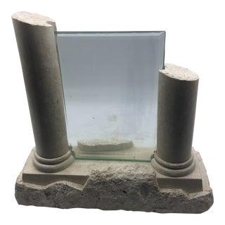 1980s Stone Travertine Column 5x7 Picture Frame For Sale