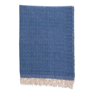 Diamante Cotton Throw in Blue Size Medium For Sale