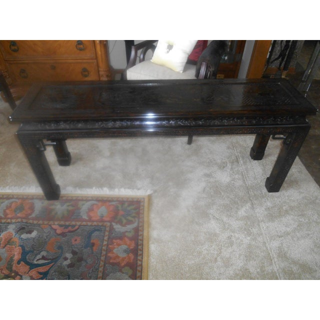 John Widdicomb Chinoiserie Console Table For Sale - Image 9 of 13