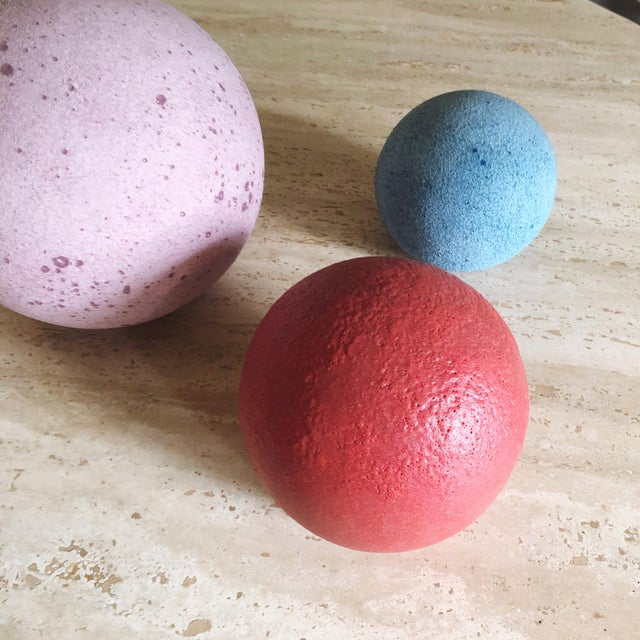 Modern Artist Made Post Modern Sphere Trio - Set of 3 For Sale - Image 3 of 8