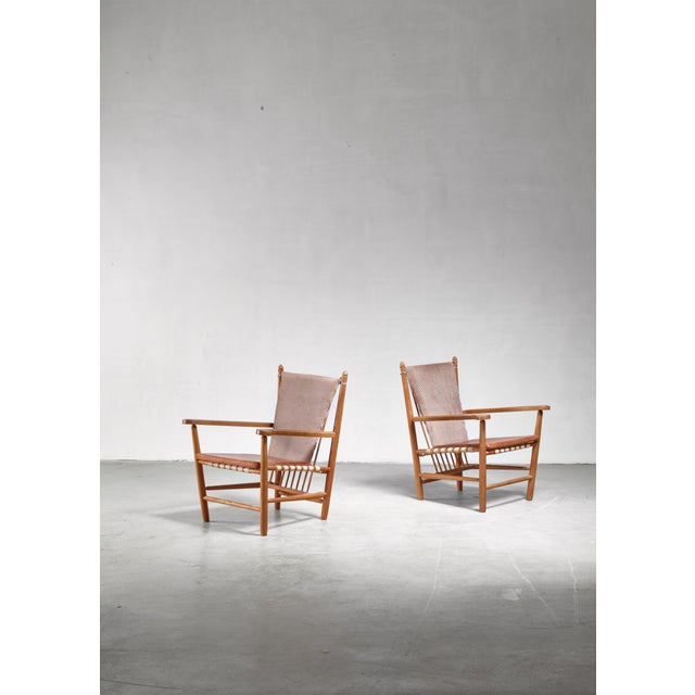 Hermann Flener Albert Haberer Pair of Armchairs, Germany For Sale - Image 4 of 5