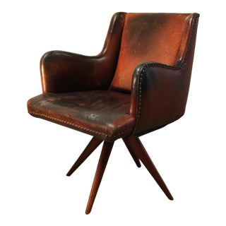 1950s Vintage Vladimir Kagan Custom Executive Swivel Chair For Sale