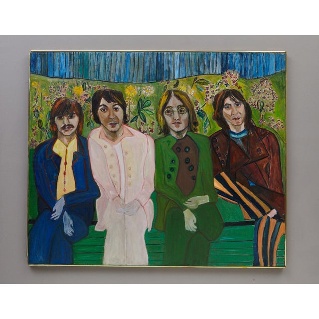 Abstract Expressionism Wyona Diskin John Paul George & Ringo For Sale - Image 3 of 11