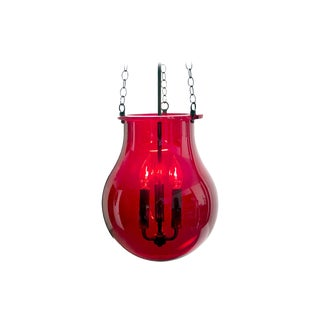Late 19th Century Asian Red Lantern For Sale