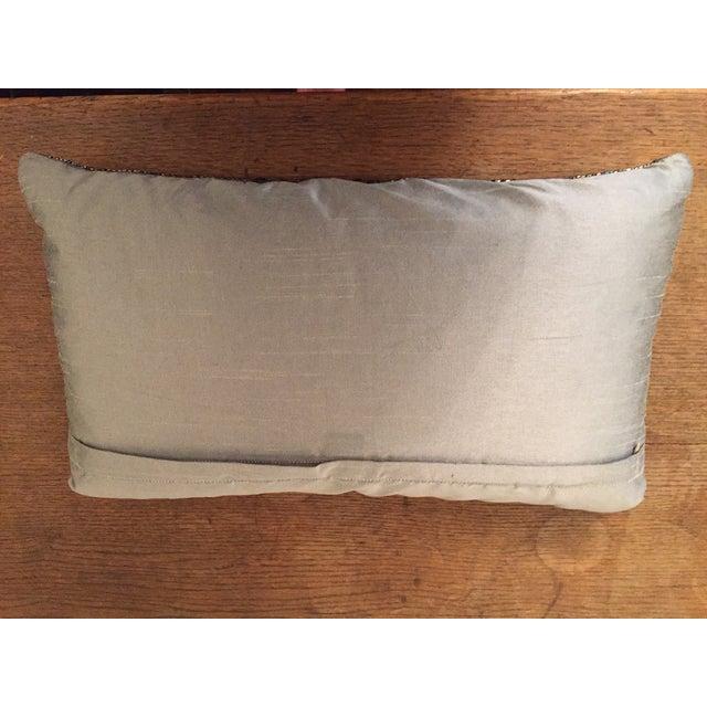 Aviva Stanoff Beaded Jewel in Smoke Pillow For Sale - Image 5 of 6