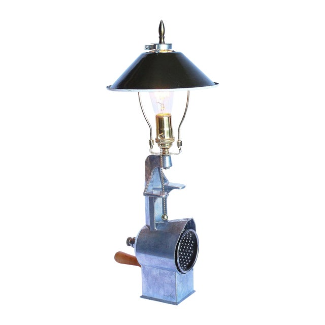 1950s Vintage Cheese Grater Lamp - Image 1 of 4