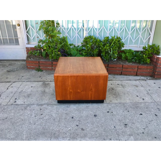 Vintage Square Coffee Table - Image 3 of 5