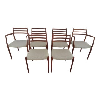 Niels Moller Teak Dining Chairs - Set of 6 For Sale