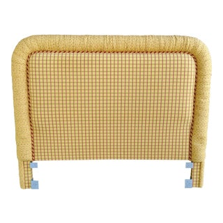 Vintage Full Size Canary Yellow Headboard For Sale