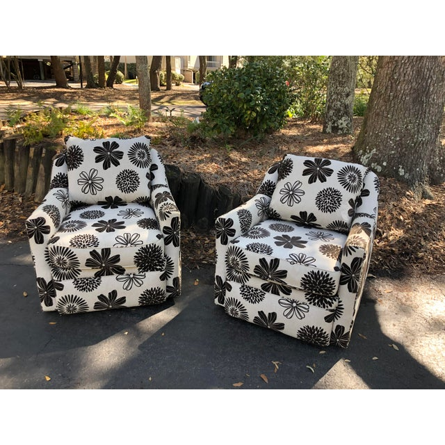 Rowe Furniture Swivel Chairs - a Pair For Sale In Charleston - Image 6 of 12