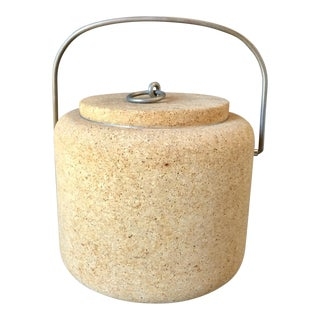 1970's Mid-Century Modern Boda Nova Cork Ice Bucket For Sale