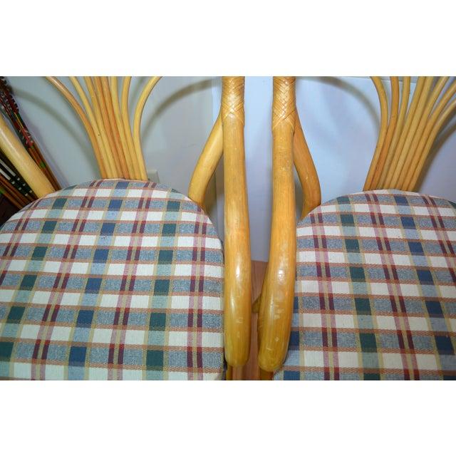 Vintage Rattan Bar Stools - Set of 2 - Image 7 of 10