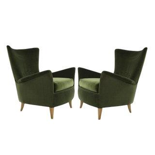 Italian Lounge Chairs, Gio Ponti for the Hotel Bristol, Merano, Circa 1950s For Sale
