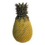 Image of Yellow Ceramic Pineapple Vase For Sale