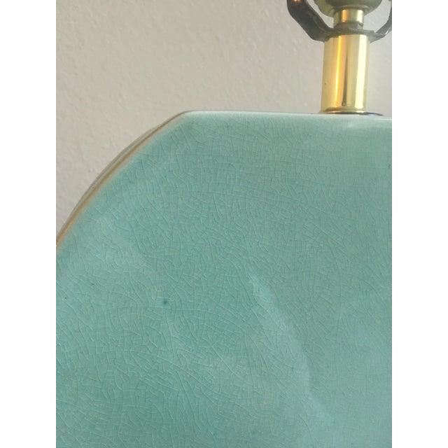 Mid-Century Lamp in Seafoam - Image 4 of 9