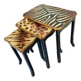 Image of 1980s Contemporary Animal Motif Nesting Tables - Set of 3 For Sale