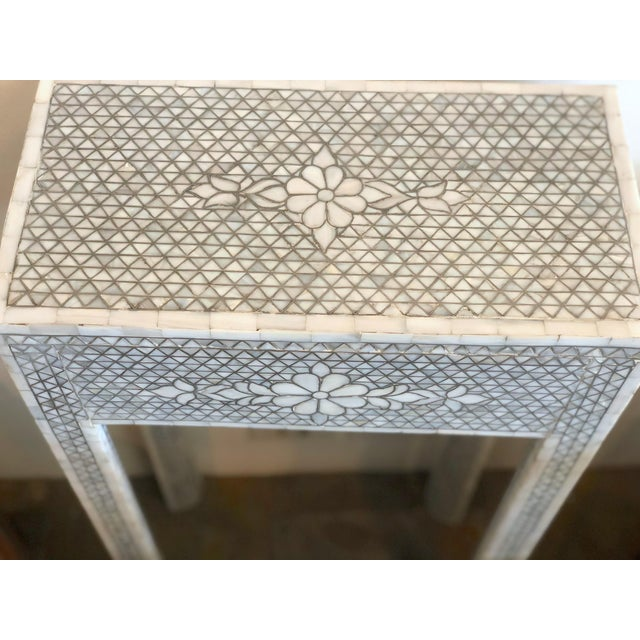 Mother of Pearl Inlay Contemporary Side Table For Sale - Image 4 of 8