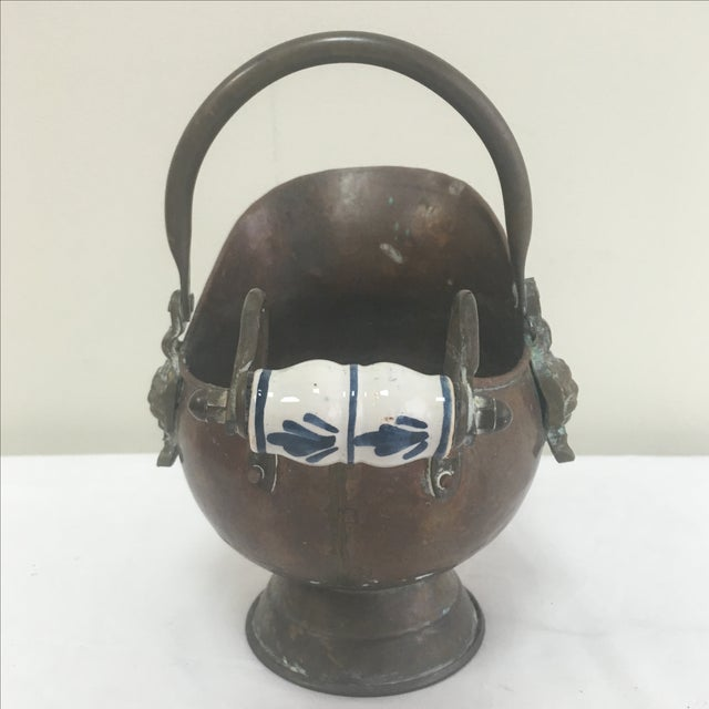 Delft Copper Bucket For Sale - Image 5 of 6