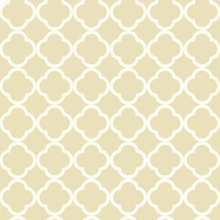 Sample - Schumacher Morrocco Wallpaper in Alabaster For Sale