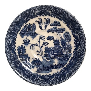"1940's Japanese Ceramic ""Blue Willow"" Saucer Plate For Sale"