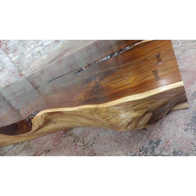 """African Leadwood Slab """"Monumental"""" Coffee Table For Sale - Image 10 of 13"""