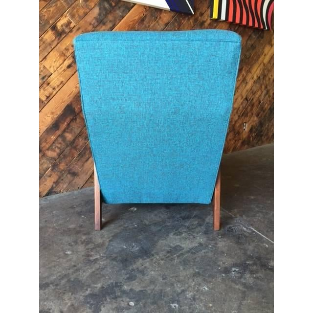 Mid-Century Sculpted Reupholstered Chair - Image 5 of 6